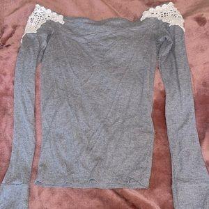 Hollister Long Sleeve Grey Shirt!